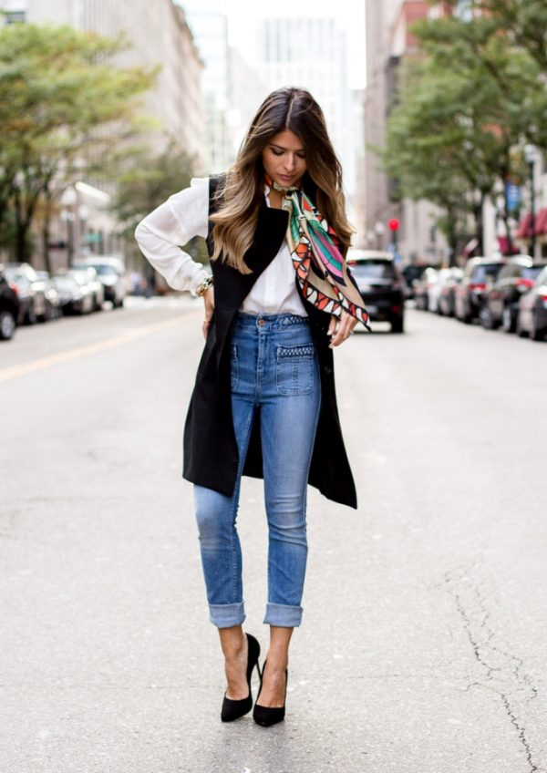 high waist braided skinny jeans outfit bmodish