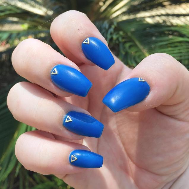 royal blue matt nail design bmodish