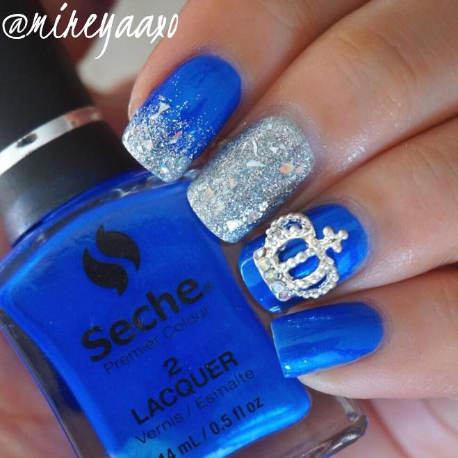 royal blue nails bmodish