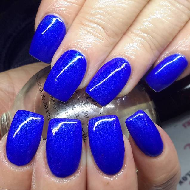 simple royal blue nail designs
