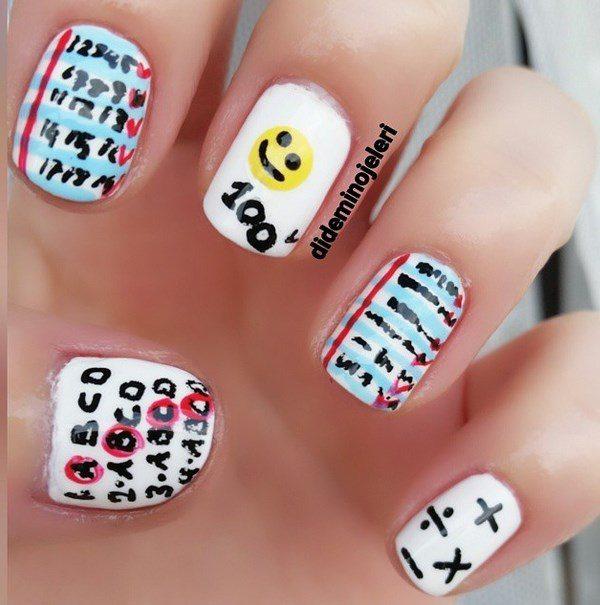 alphabet nail art bmodish