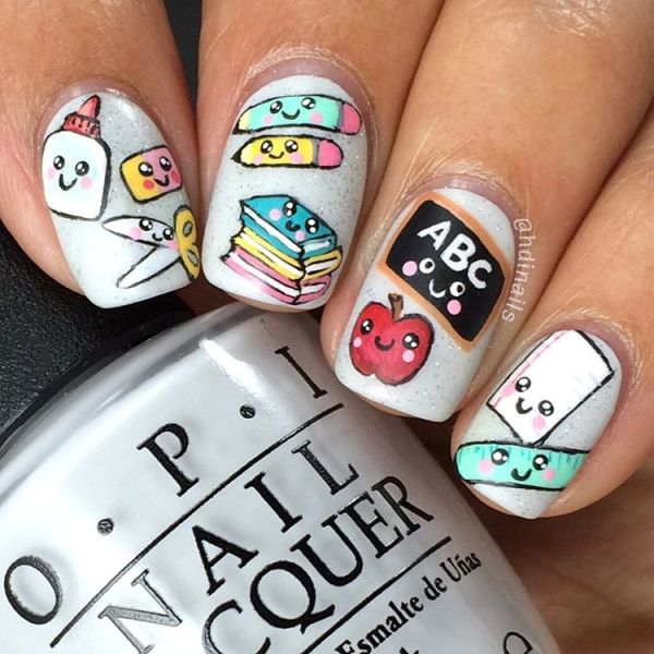 back to school nails design bmodish
