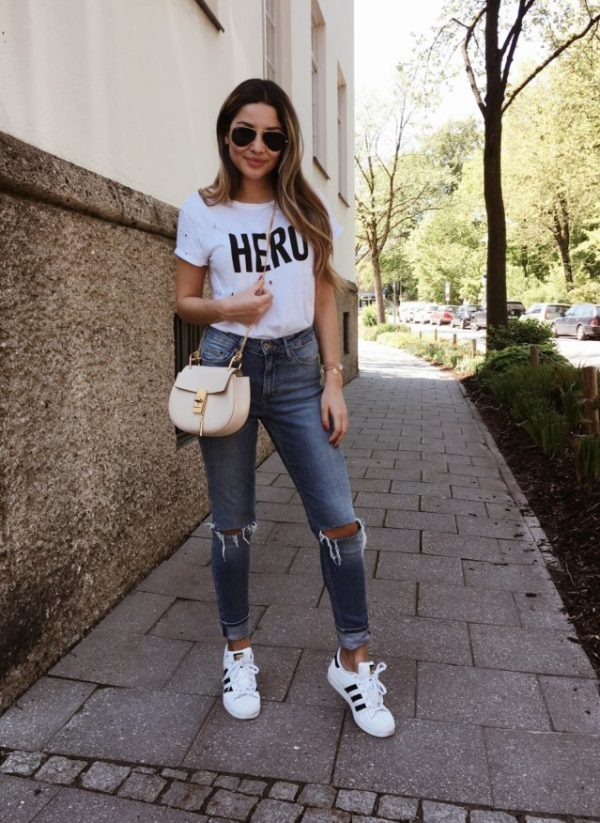 casual monday ripped jeans outfit bmodish