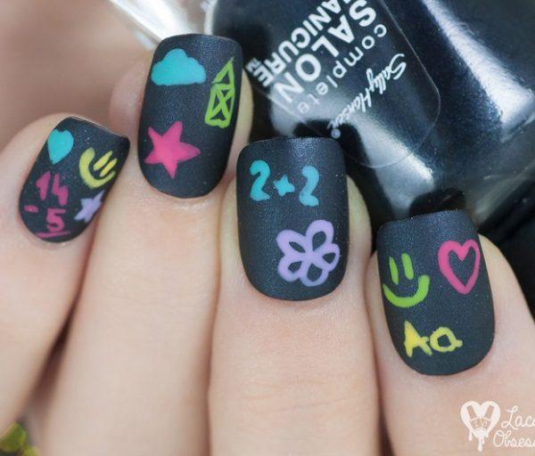 chalkboard nail art bmodish