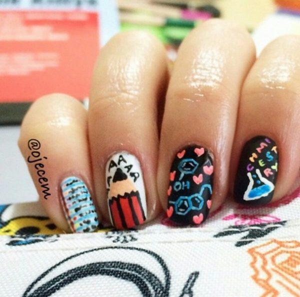 chemistry nail art bmodish