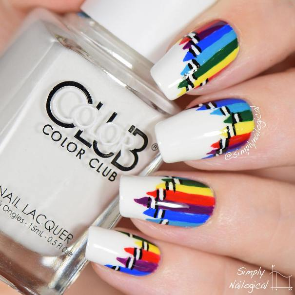 colorful pencils back to school mani bmodish