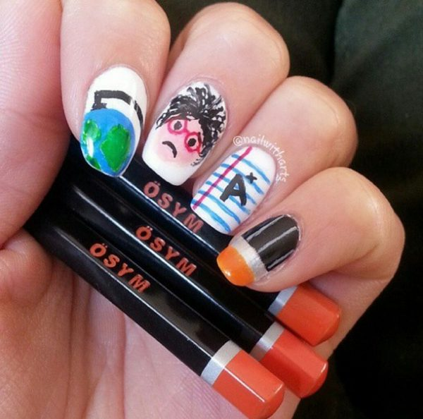 cool back to school nails bmodish