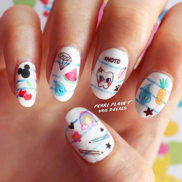 cute back to school nail decals bmodish