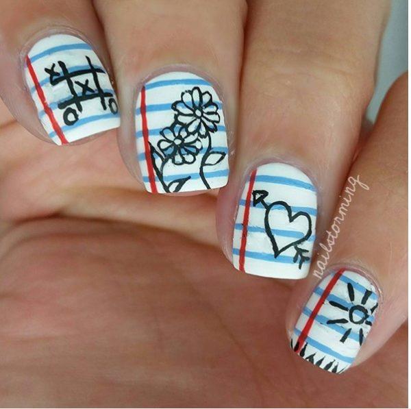 notebook doodles cute nail art bmodish