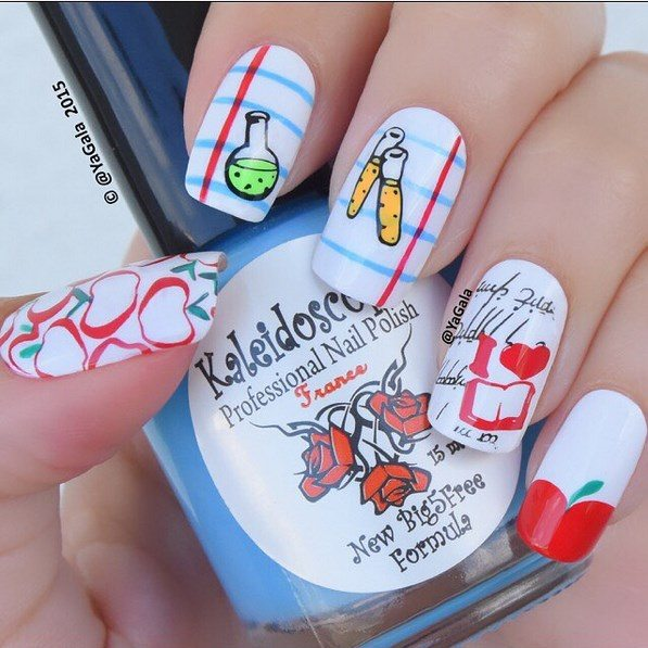 simple back to school nails bmodish