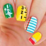 super cute back to school nail art design bmodish
