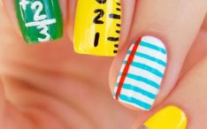 super cute back to school nail art design bmodish