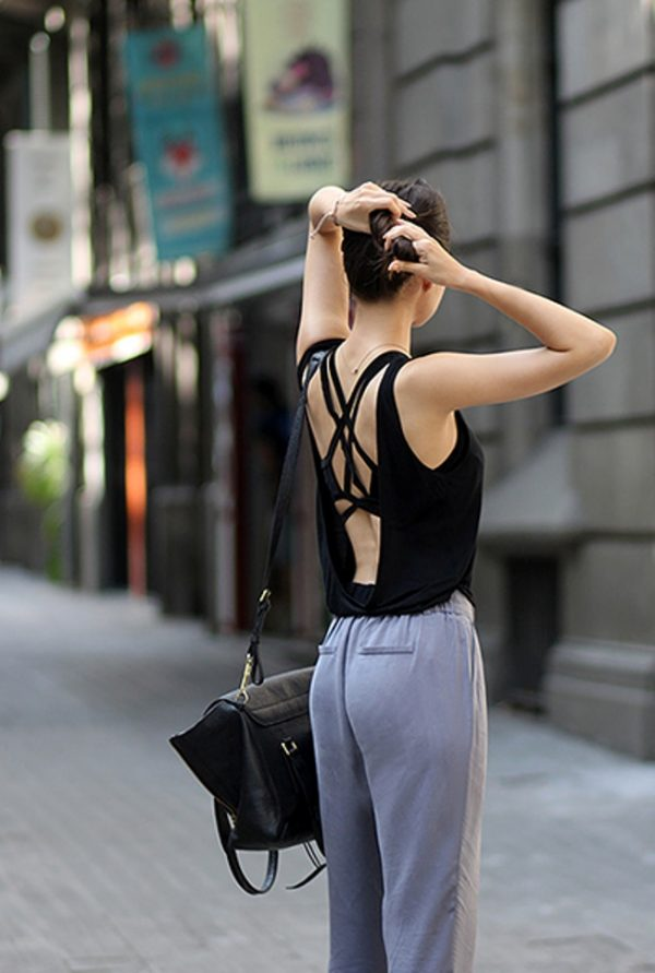 bralette backless summer outfit