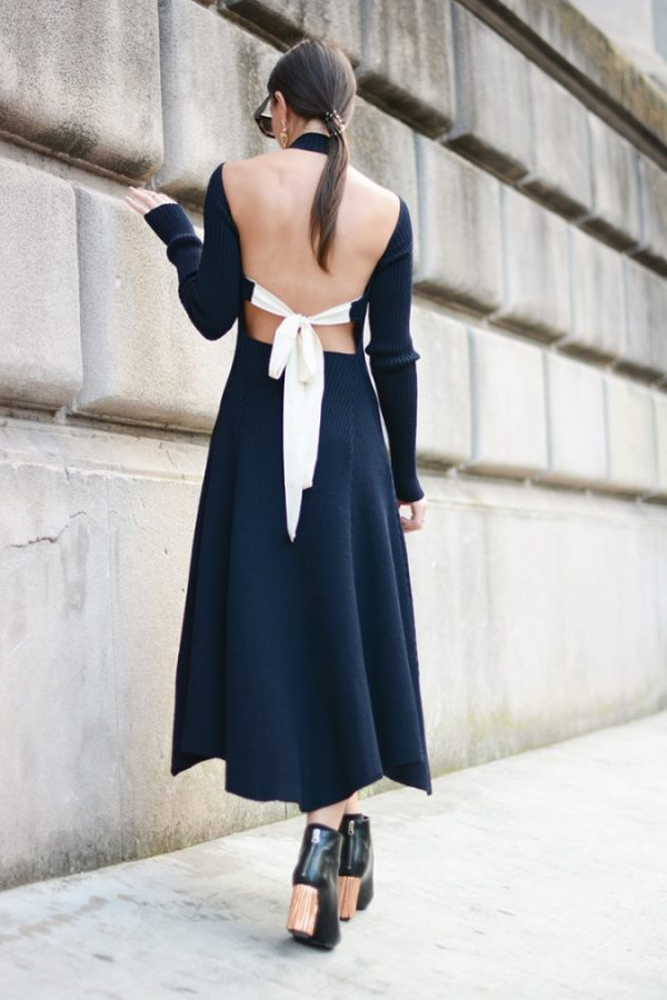 celine backless dress bmodish