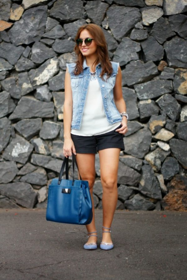 cute-summer-outfit-with-denim-vest-bmodish