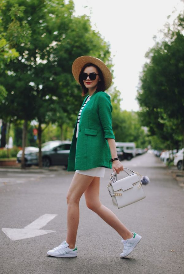 green-blazer-with-co-ord-summer-outfit-bmodish