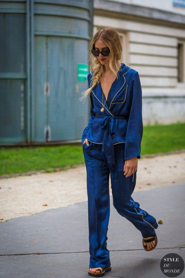 Chiara Ferragni pajama outfit street style bmodish