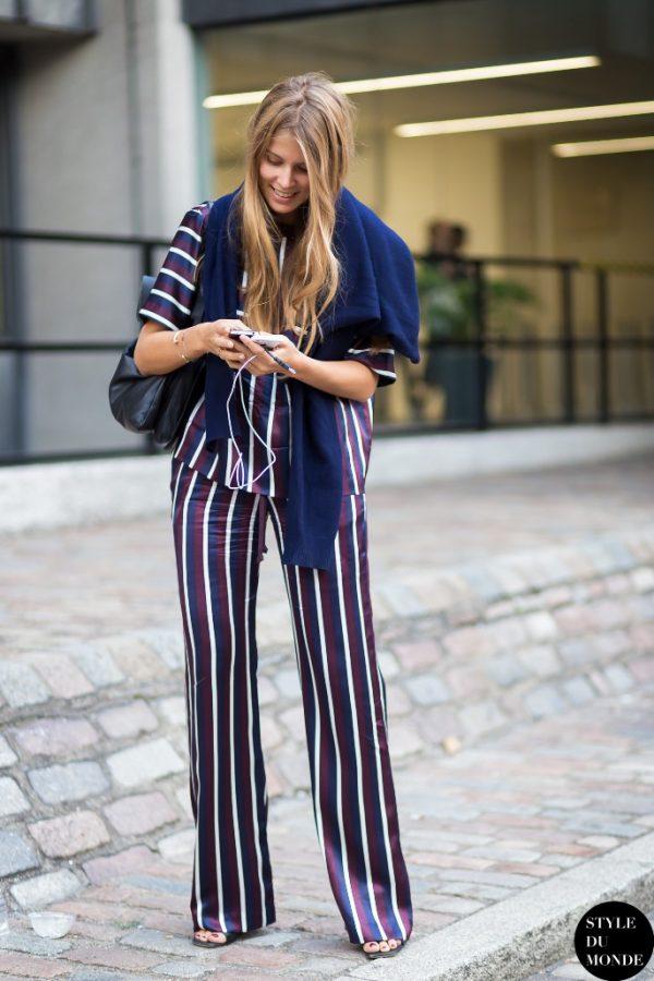Stylish stripe pyjamas fashion outfit bmodish