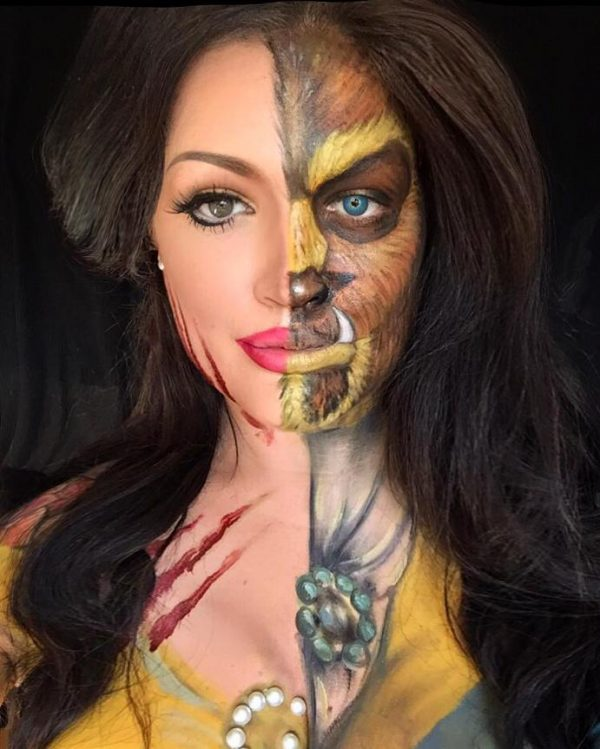 beauty and the beast halloween makeup bmodish