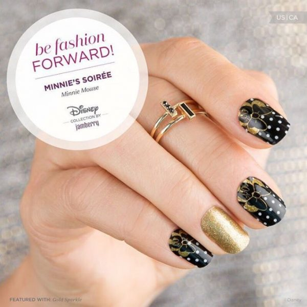 black and gold nails disney nails bmodish