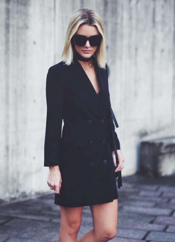black long blazer sexy outfit bmodish