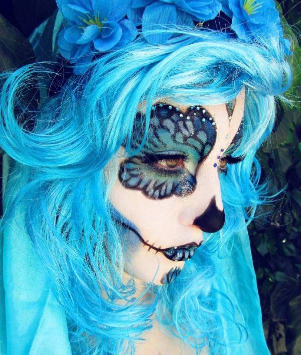 butterfly skull halloween makeup idea bmodish