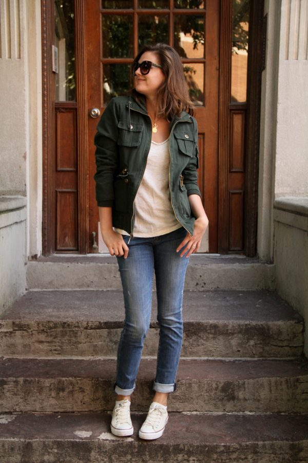 casual cargo jacket outfit bmodish