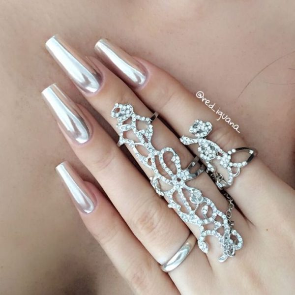 cute chrome nail designs bmodish