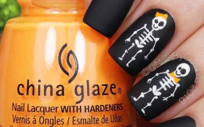 cute skeleton halloween nails bmodish