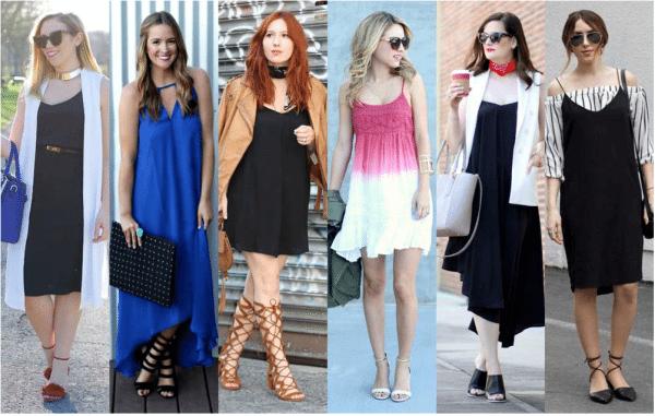 different ways to wear slip dress