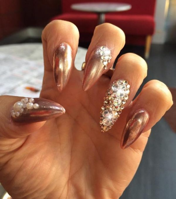 embellished mirror nails bmodish