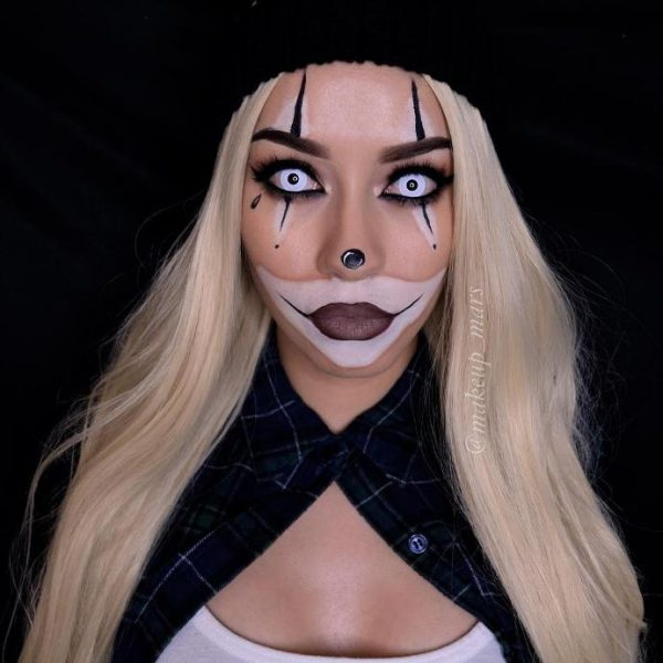 gangsta clown halloween makeup idea bmodish