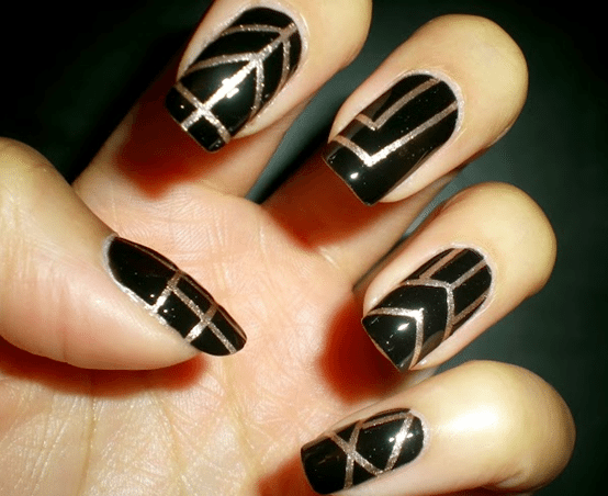 great gatsby nail art