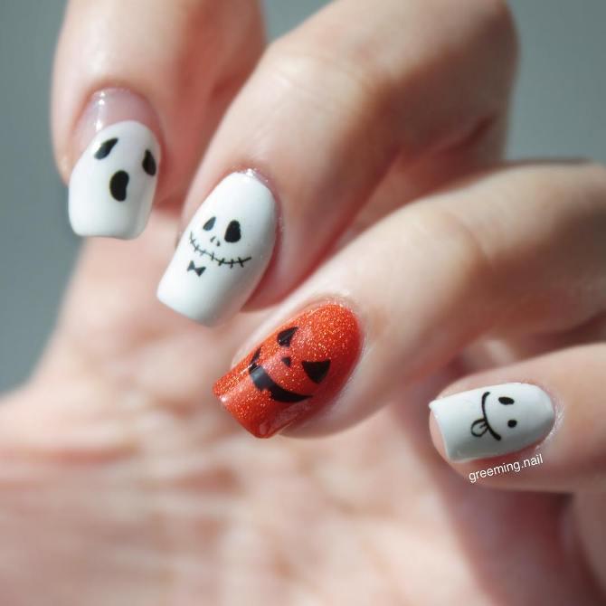 halloween nail design bmodish