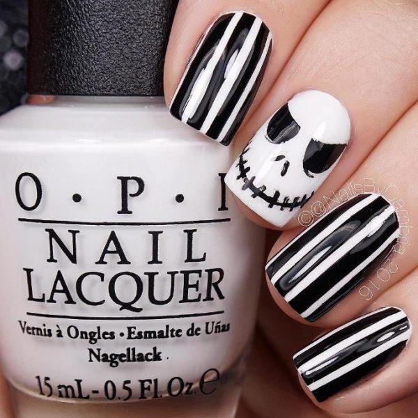 jack skellington halloween nail art bmodish