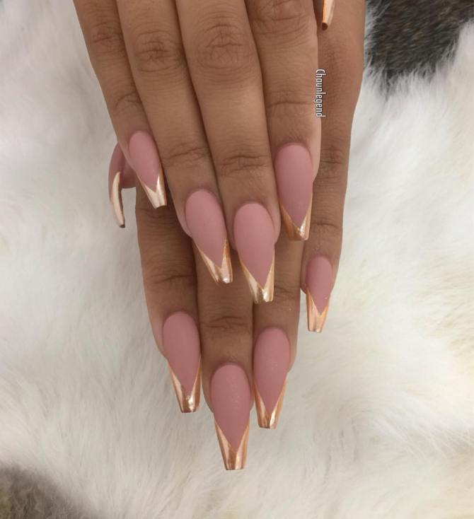 mirror and matte nails bmodish