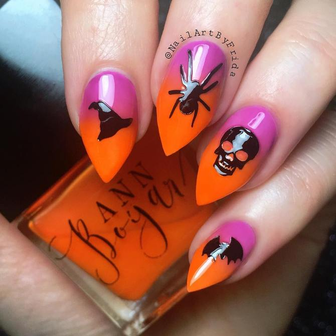 ombre halloween nails bmodish