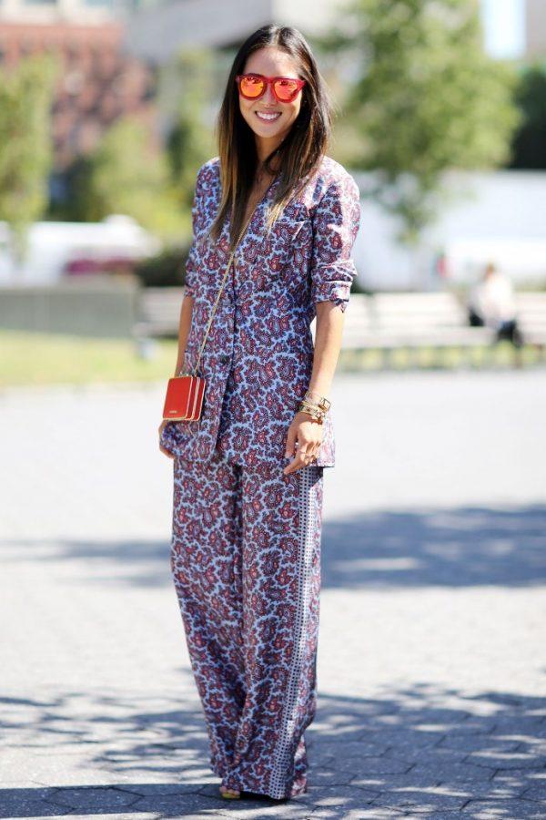 paisley printed pajama outfit bmodish