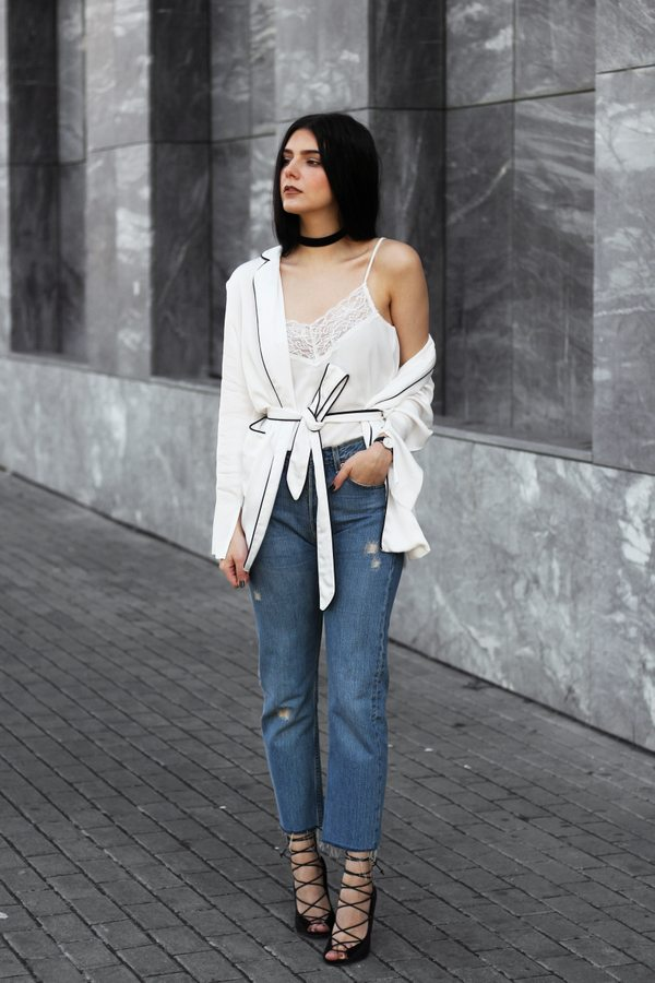 pyjama blazer casual outfit bmodish