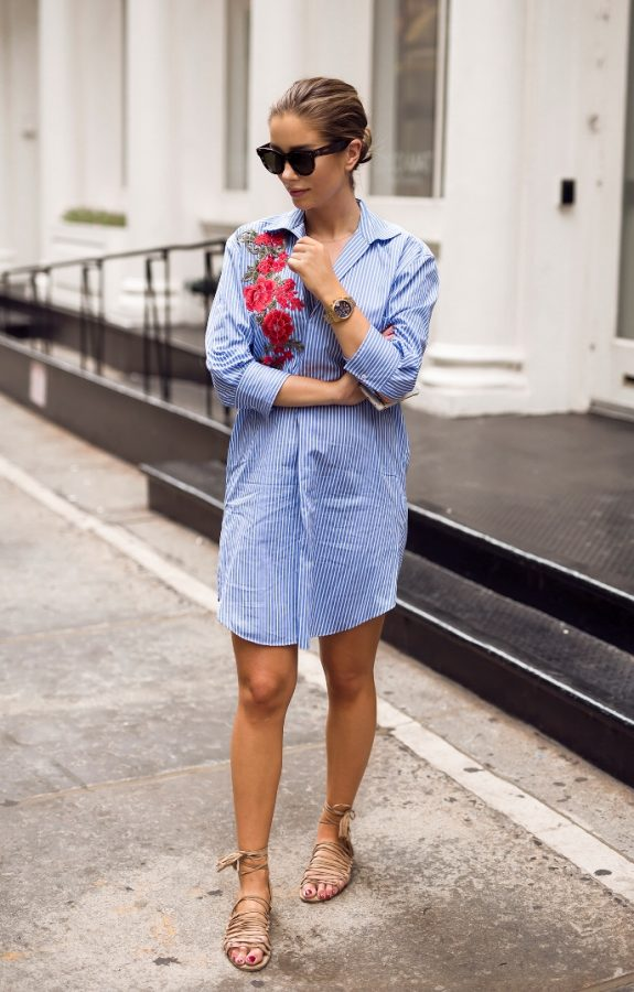 pyjama shirt dress summer look bmodish