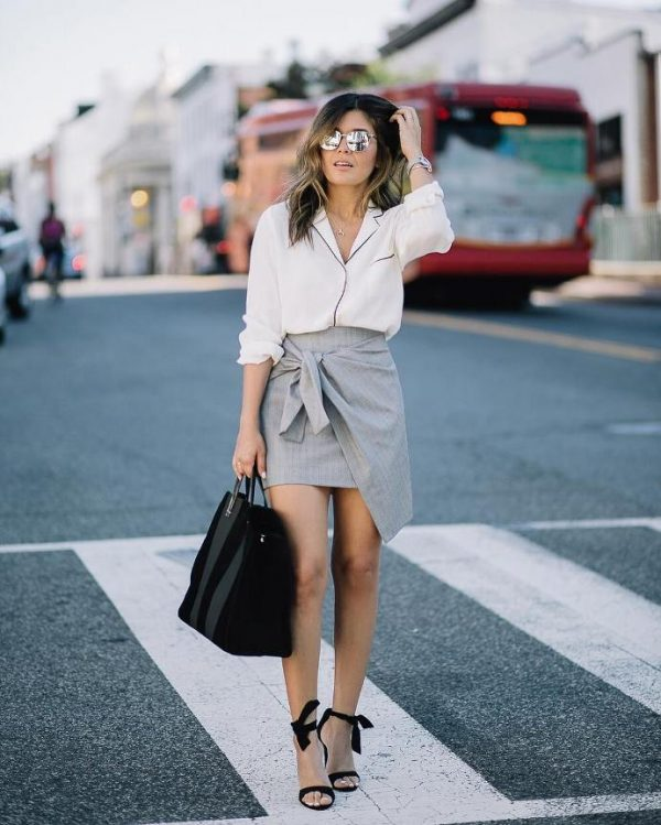 pyjama shirt with wrap skirt