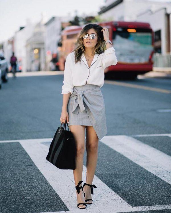 pyjama shirt with wrap skirt