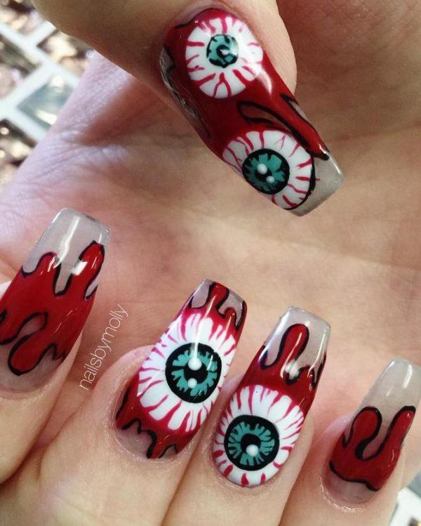 red eyes halloween makeup bmodish