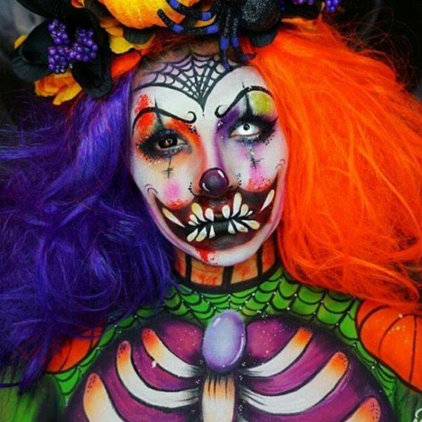 Scary Clown halloween makeup bmodish