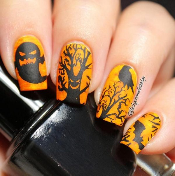 scary halloween nail art bmodish