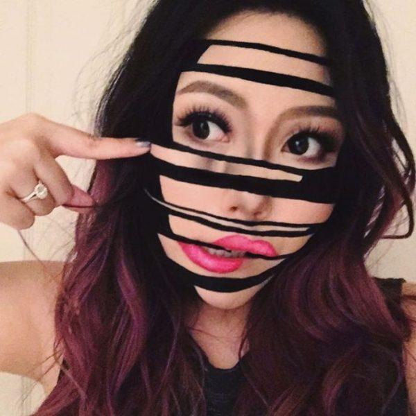 shifted face halloween makeup idea bmodish