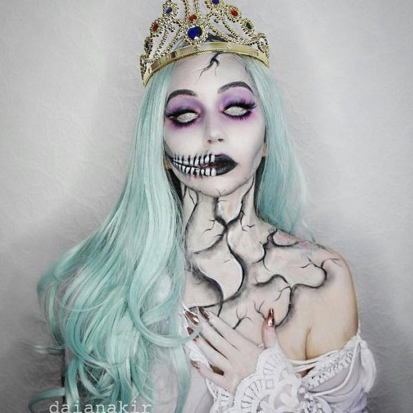 skull queen halloween makeup idea bmodish