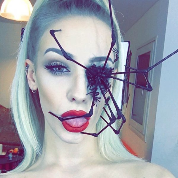 spider eye halloween makeup idea bmodish
