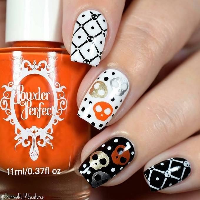 stamping halloween nails bmodish