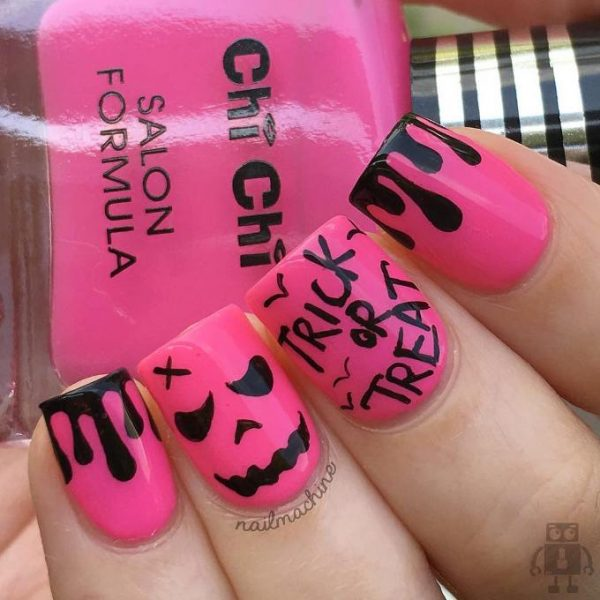 trick or treat halloween nails bmodish